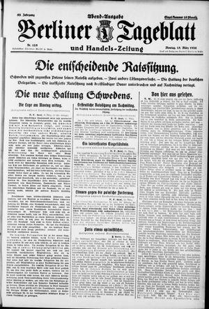 Berliner Tageblatt und Handels-Zeitung vom 15.03.1926