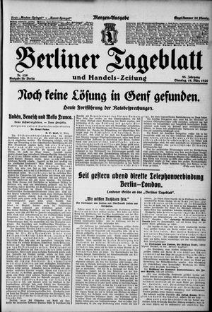 Berliner Tageblatt und Handels-Zeitung on Mar 16, 1926