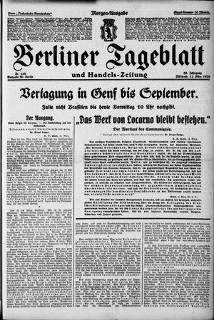 Berliner Tageblatt und Handels-Zeitung vom 17.03.1926