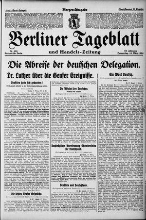 Berliner Tageblatt und Handels-Zeitung on Mar 18, 1926