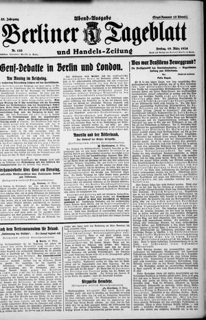 Berliner Tageblatt und Handels-Zeitung vom 19.03.1926