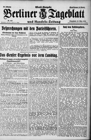 Berliner Tageblatt und Handels-Zeitung vom 20.03.1926
