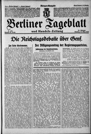 Berliner Tageblatt und Handels-Zeitung vom 23.03.1926