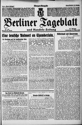 Berliner Tageblatt und Handels-Zeitung (25.03.1926)