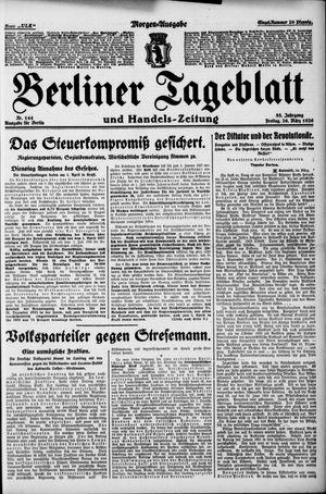 Berliner Tageblatt und Handels-Zeitung vom 26.03.1926