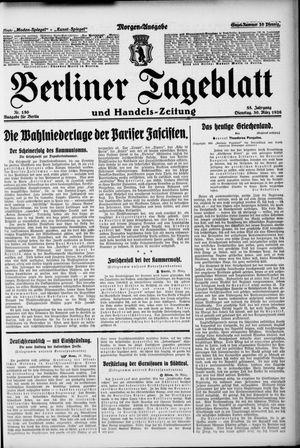 Berliner Tageblatt und Handels-Zeitung on Mar 30, 1926