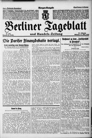 Berliner Tageblatt und Handels-Zeitung vom 31.03.1926