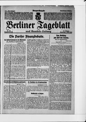 Berliner Tageblatt und Handels-Zeitung vom 01.04.1926