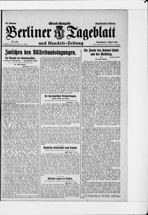 Berliner Tageblatt und Handels-Zeitung on Apr 3, 1926