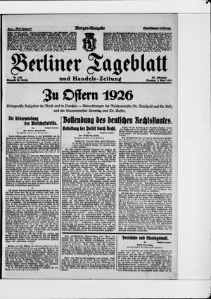 Berliner Tageblatt und Handels-Zeitung vom 04.04.1926