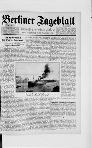 Berliner Tageblatt und Handels-Zeitung vom 08.04.1926