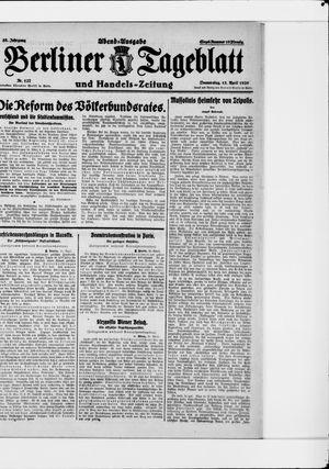Berliner Tageblatt und Handels-Zeitung vom 15.04.1926
