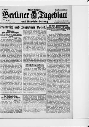 Berliner Tageblatt und Handels-Zeitung vom 17.04.1926