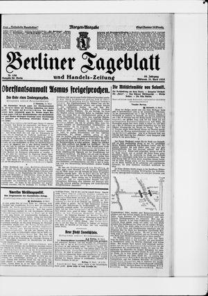 Berliner Tageblatt und Handels-Zeitung vom 21.04.1926