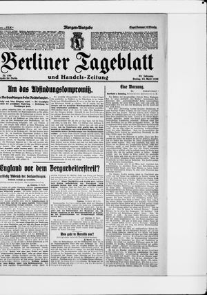 Berliner Tageblatt und Handels-Zeitung vom 23.04.1926
