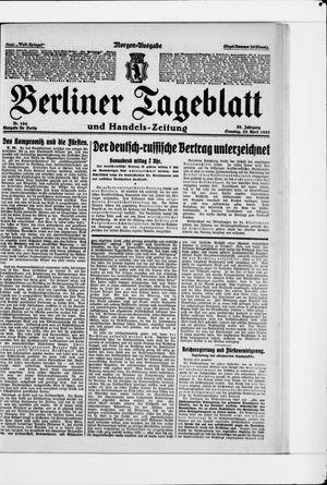 Berliner Tageblatt und Handels-Zeitung vom 25.04.1926