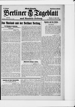 Berliner Tageblatt und Handels-Zeitung vom 27.04.1926