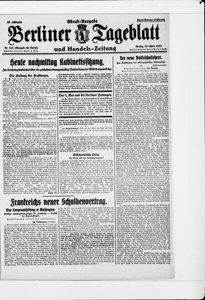 Berliner Tageblatt und Handels-Zeitung vom 30.04.1926