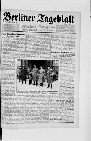 Berliner Tageblatt und Handels-Zeitung vom 06.05.1926