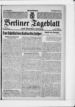Berliner Tageblatt und Handels-Zeitung vom 09.05.1926