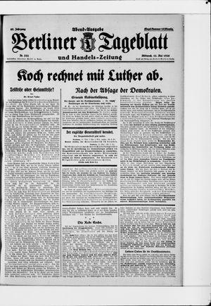Berliner Tageblatt und Handels-Zeitung vom 12.05.1926