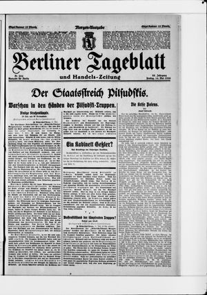 Berliner Tageblatt und Handels-Zeitung vom 14.05.1926