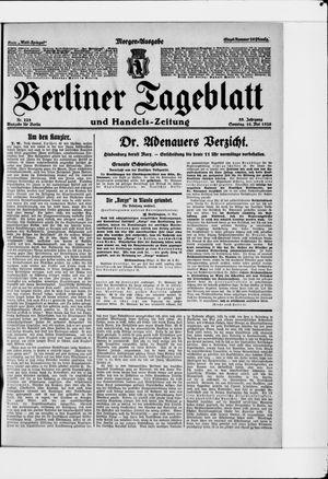 Berliner Tageblatt und Handels-Zeitung vom 16.05.1926