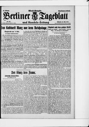 Berliner Tageblatt und Handels-Zeitung vom 19.05.1926