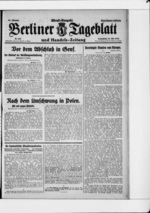 Berliner Tageblatt und Handels-Zeitung vom 22.05.1926