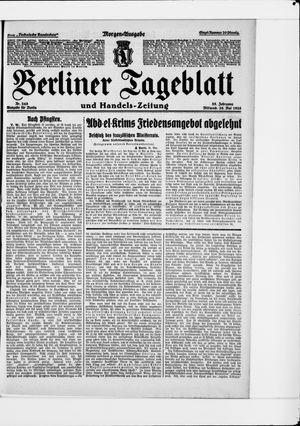 Berliner Tageblatt und Handels-Zeitung vom 26.05.1926