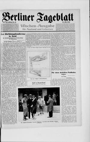 Berliner Tageblatt und Handels-Zeitung vom 27.05.1926