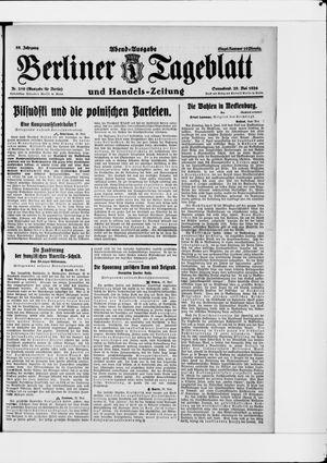 Berliner Tageblatt und Handels-Zeitung vom 29.05.1926