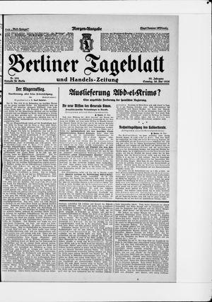 Berliner Tageblatt und Handels-Zeitung vom 30.05.1926