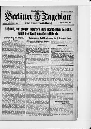 Berliner Tageblatt und Handels-Zeitung vom 31.05.1926