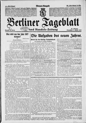 Berliner Tageblatt und Handels-Zeitung vom 01.01.1927