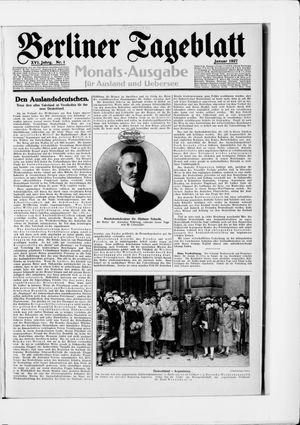 Berliner Tageblatt und Handels-Zeitung vom 03.01.1927