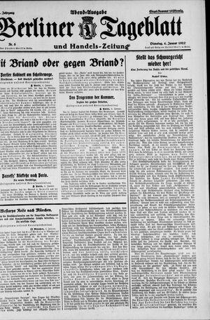 Berliner Tageblatt und Handels-Zeitung vom 04.01.1927