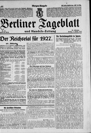 Berliner Tageblatt und Handels-Zeitung vom 07.01.1927
