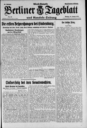 Berliner Tageblatt und Handels-Zeitung vom 10.01.1927