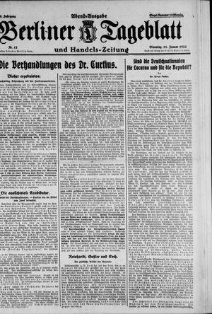Berliner Tageblatt und Handels-Zeitung vom 11.01.1927