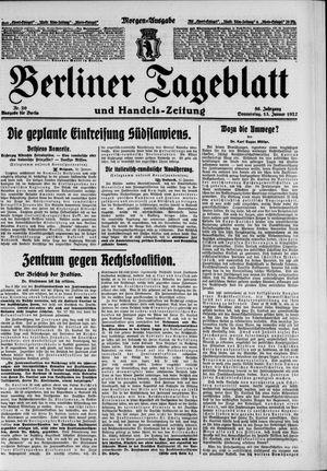 Berliner Tageblatt und Handels-Zeitung vom 13.01.1927