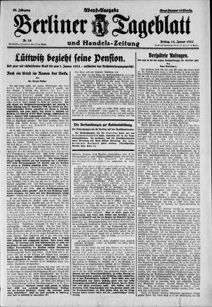Berliner Tageblatt und Handels-Zeitung vom 14.01.1927