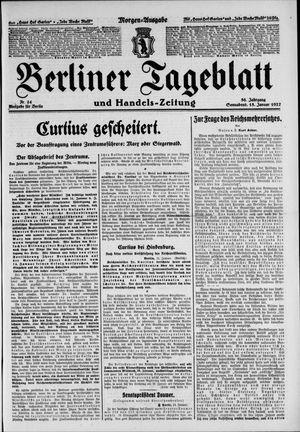 Berliner Tageblatt und Handels-Zeitung vom 15.01.1927