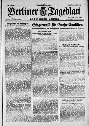 Berliner Tageblatt und Handels-Zeitung vom 17.01.1927