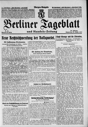 Berliner Tageblatt und Handels-Zeitung vom 20.01.1927