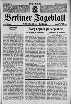 Berliner Tageblatt und Handels-Zeitung on Jan 23, 1927