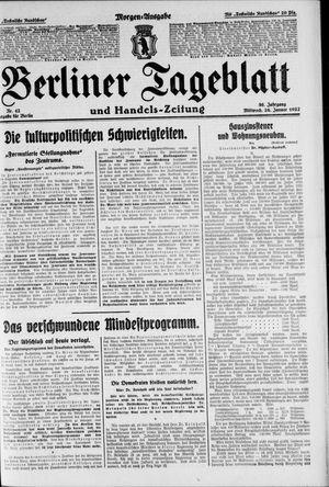 Berliner Tageblatt und Handels-Zeitung vom 26.01.1927
