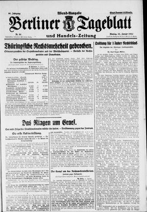 Berliner Tageblatt und Handels-Zeitung vom 31.01.1927