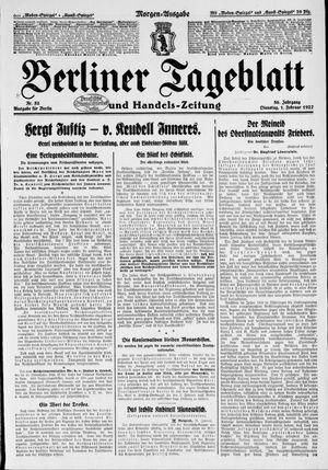 Berliner Tageblatt und Handels-Zeitung vom 01.02.1927