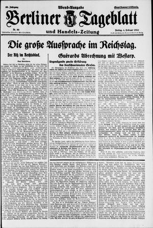 Berliner Tageblatt und Handels-Zeitung on Feb 4, 1927